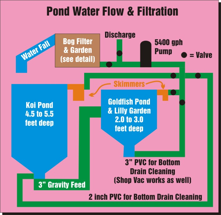 Koi pond plumbing diagram basic residential plumbing for Koi filter design